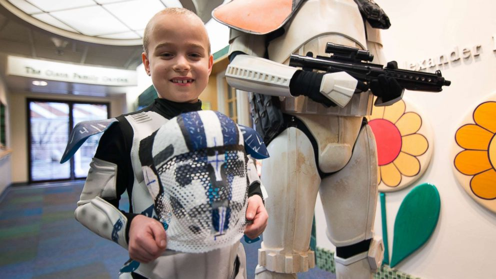 8-year-old 'Star Wars' fan dresses as Stormtrooper during his brain tumor treatment