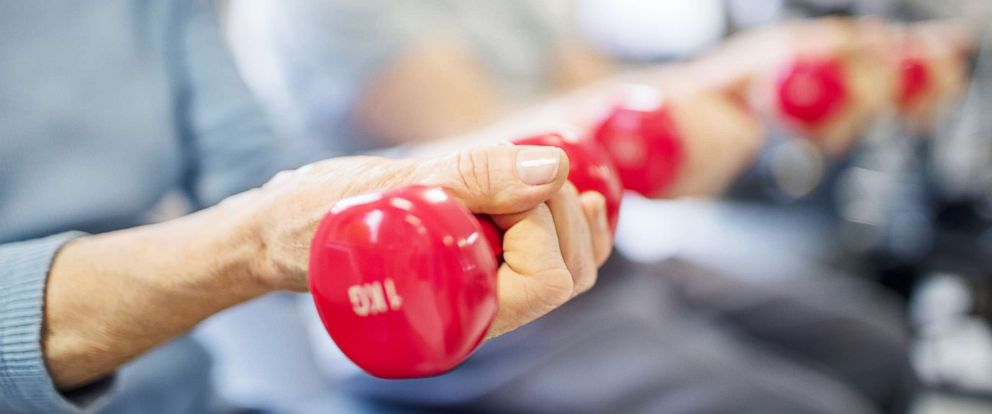 PHOTO: A woman lifts dumbbells in this undated stock photo.