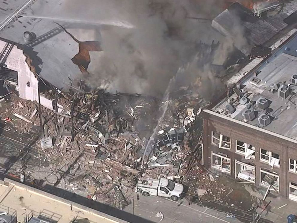 PHOTO: A gas explosion killed 1 person and injured 15 others in downtown Durham, N.C., April 10, 2019.