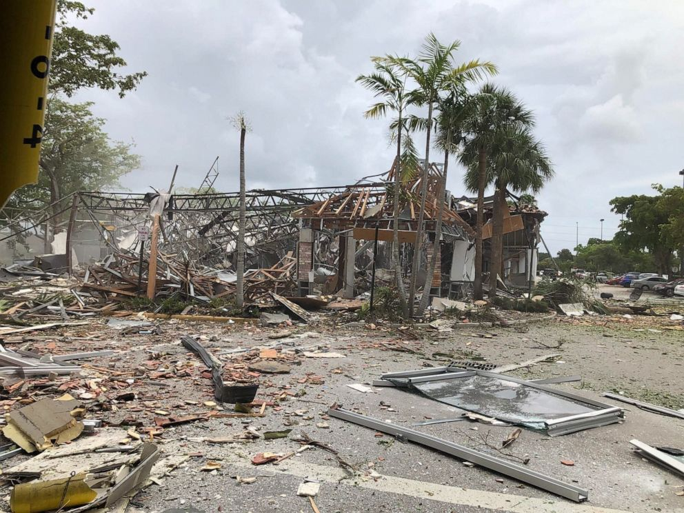 PHOTO: The scene of an explosion in Plantation, Fla., July 6, 2019.
