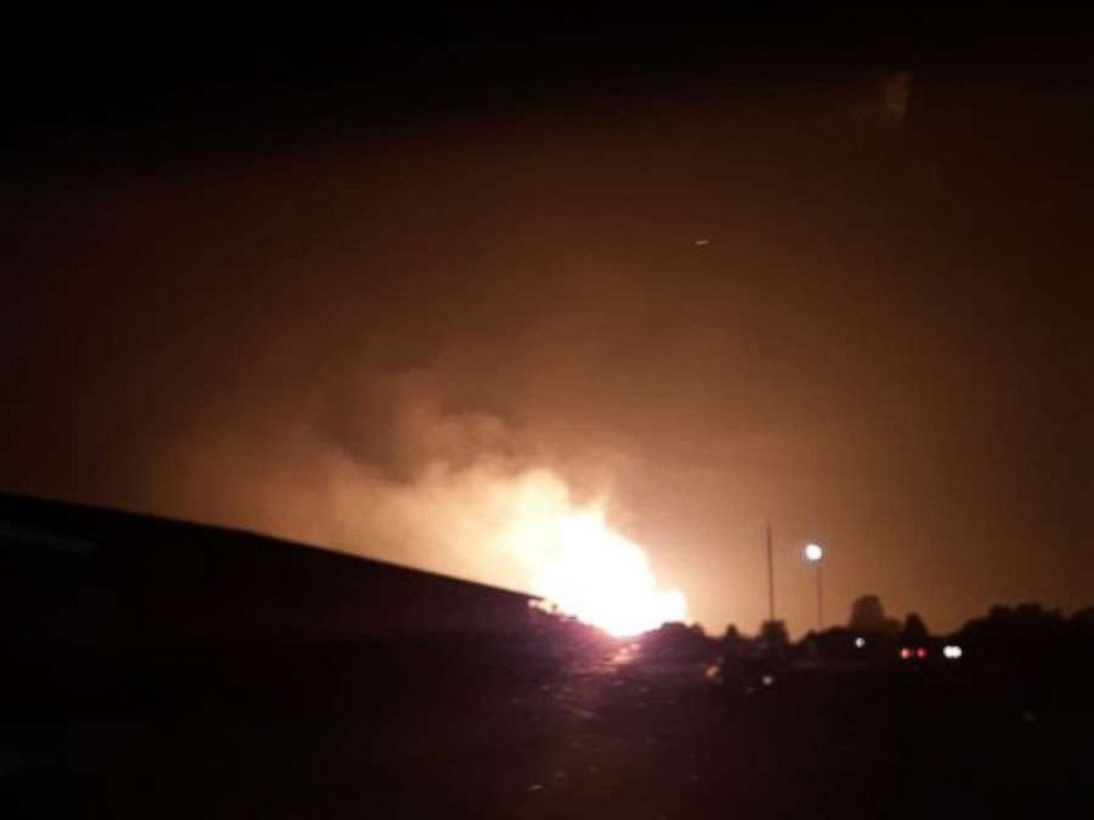 PHOTO: A massive explosion was reported in Lincoln County, Kentucky, early Thursday.