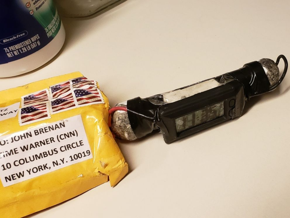PHOTO: A photo of the device recovered from CNN by the NYPD bomb squad on Oct. 24, 2018, as confirmed by two law enforcement officials.