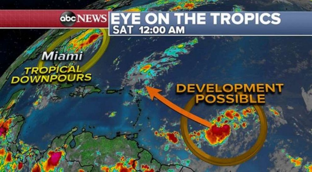 PHOTO: Tropical development is possible later in the week for a storm still out in the Atlantic.