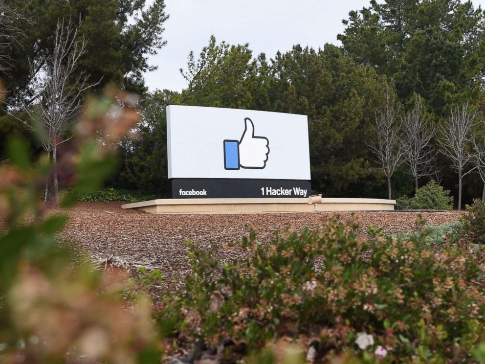Josh Edelson  AFP via Getty ImagesA sign is seen at the entrance to Facebook's corporate headquarters in Menlo Park