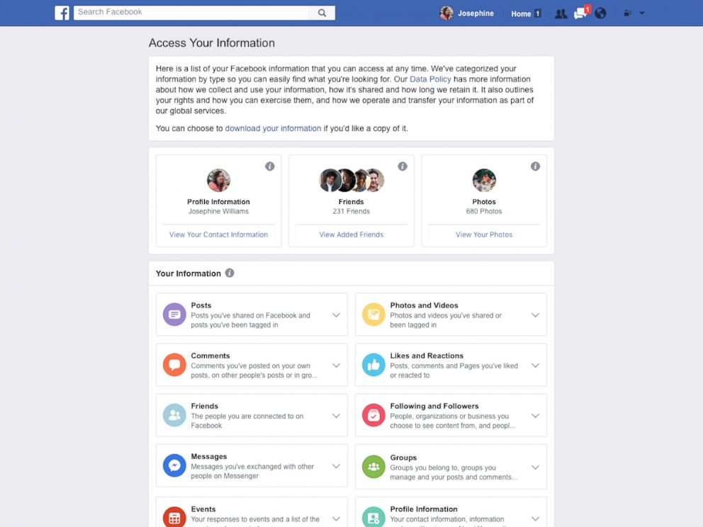 PHOTO: A Facebook product image provided by Facebook shows a redesign of Facebooks privacy tools.