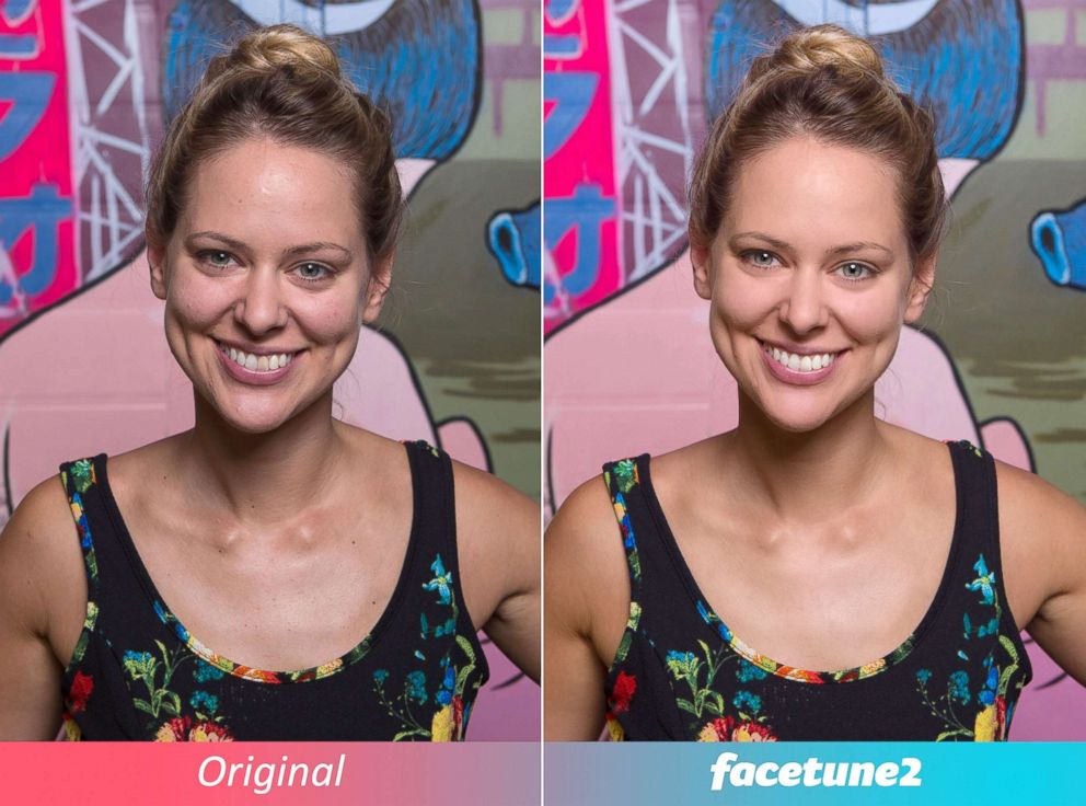 PHOTO: Users use the wildly popular Facetune app to edit away perceived imperfections on their photos.