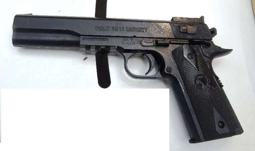 PHOTO: The New York Police Department said it found this imitation gun in the possession of Christopher Ransom, who has been charged in connection to the friendly fire shooting death of Det. Brian Simonsen in Queens, N.Y., on Tuesday, Feb. 12, 2019.