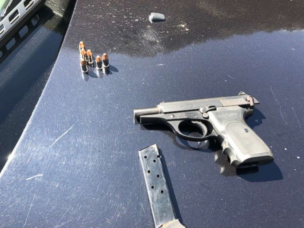 PHOTO: Sheriffs found a real gun in what turned out to be a kidnapping staged for a music video shoot in Los Angeles County, on Wednesday, March 13, 2019.