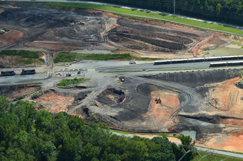 PHOTO: Pictured is the Riverbend coal ash cleanup in Mt Holly (next to Charlotte), NC, Sept. 12, 2018.
