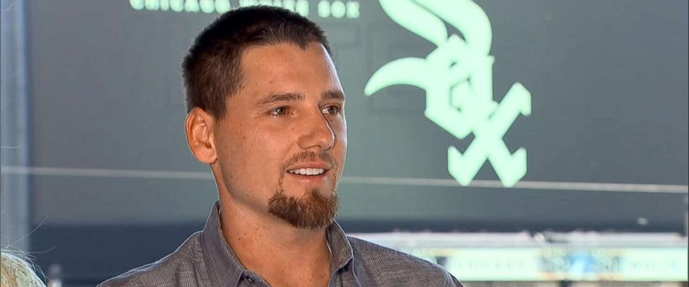 PHOTO: White Sox pitcher Danny Farquhar talks with ABC News, May 31, 2018, following his recovery from a brain hemorrhage earlier this year.
