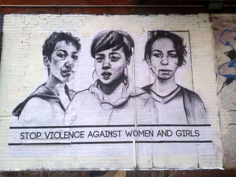 PHOTO: Tatyana Fazlalizadeh created the art series Stop Telling Women to Smile as a way to combat street harassment.