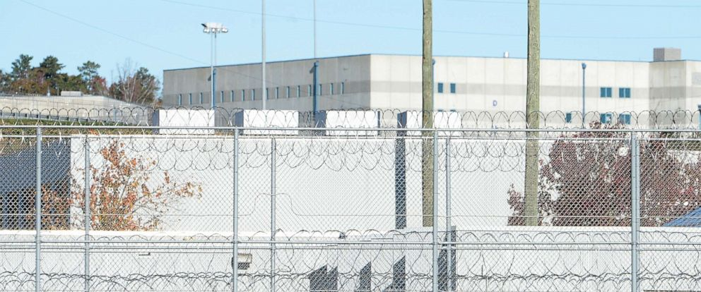PHOTO: The fence around the federal prison in Butner, North Carolina is seen here.
