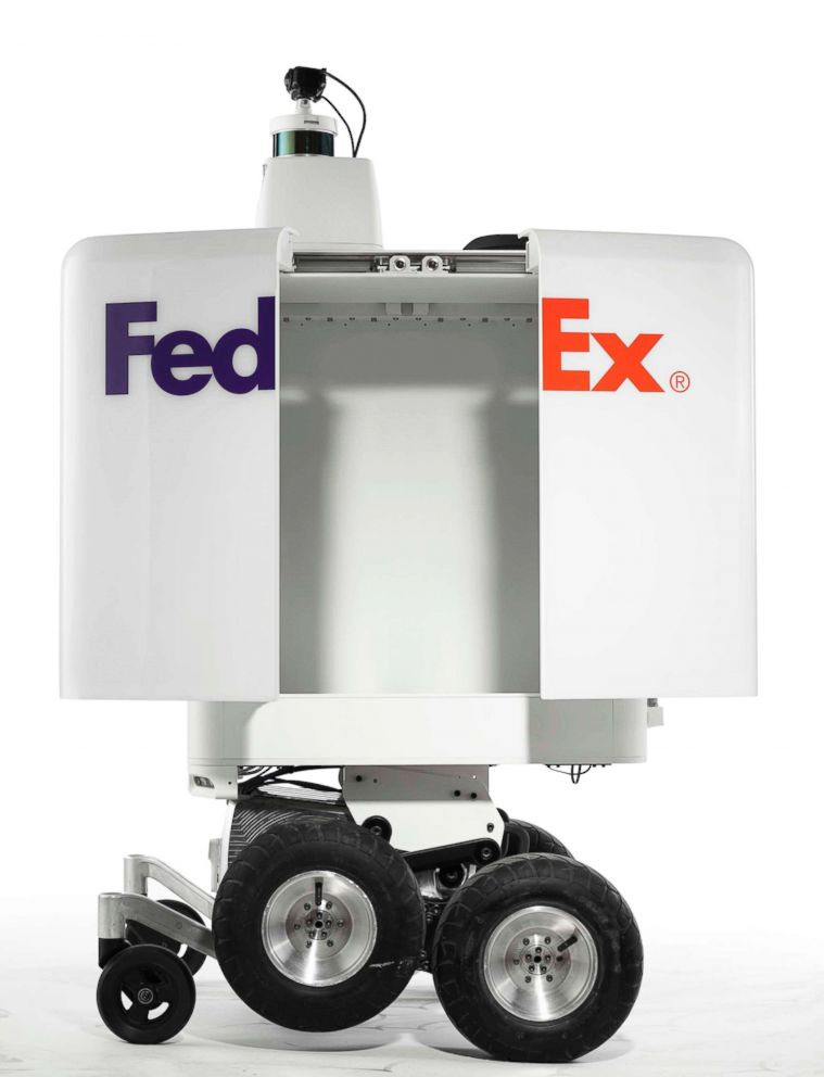 PHOTO: FedEx is testing a new robot to make short deliveries.