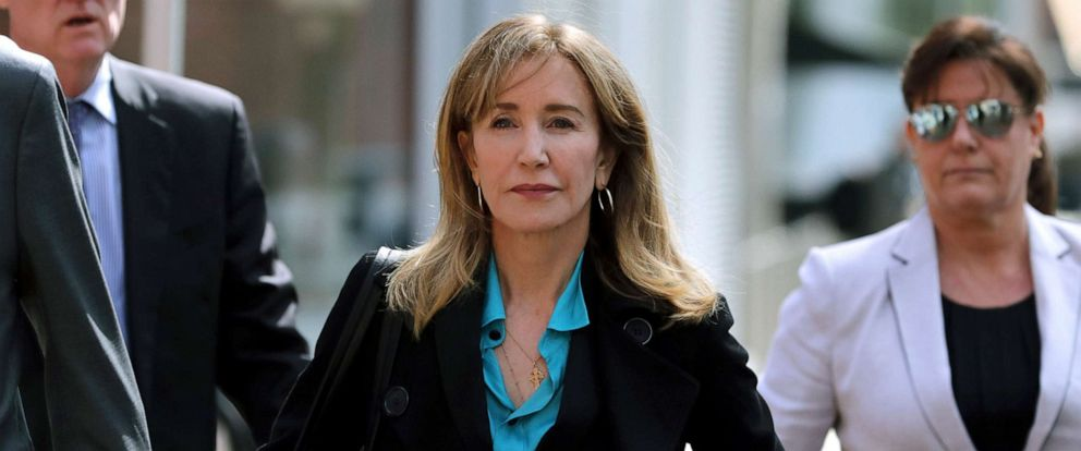 Image result for Actress Felicity Huffman is expected to plead guilty today in college admission scandal