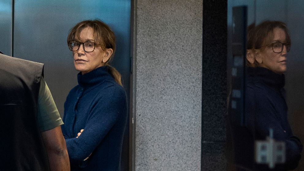 Actress Felicity Huffman is seen inside the Edward R. Roybal Federal Building and U.S. Courthouse in Los Angeles, March 12, 2019.