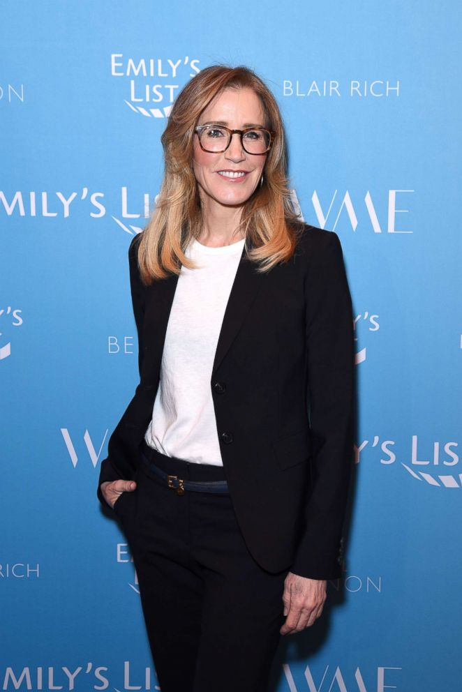 PHOTO: Felicity Huffman attends Raising Our Voices: Supporting More Women in Hollywood & Politics at Four Seasons Hotel Los Angeles in Beverly Hills, Feb. 19, 2019, in Los Angeles.