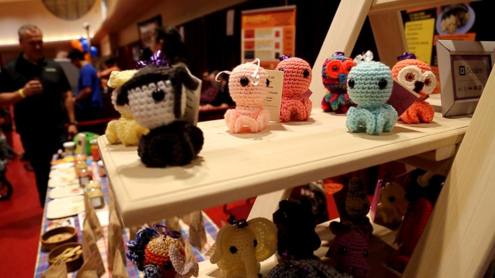 At the Madison Mini Maker Faire in Wisconsin, vendors sold soaps, candles and even hand-sewn stuffed animals and toys from PlushZilla and Inkies, seen here.