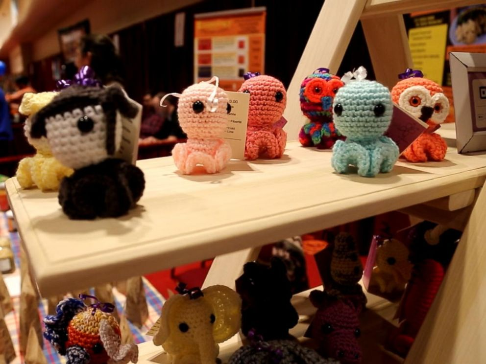 PHOTO: At the Madison Mini Maker Faire in Wisconsin, vendors sold soaps, candles and even hand-sewn stuffed animals and toys from PlushZilla and Inkies, seen here.