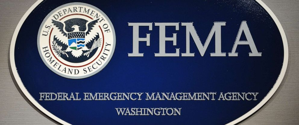 PHOTO: The logo of the Federal Emergency Management Agency (FEMA) is seen at its headquarters August 27, 2011 in Washington, DC.