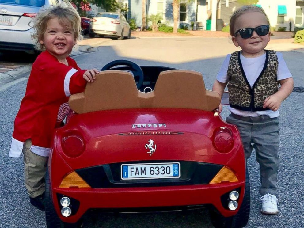 46f1b5754 PHOTO: Lauren Willis is dressing her twins as movie characters Ferris  Bueller and Cameron Frye
