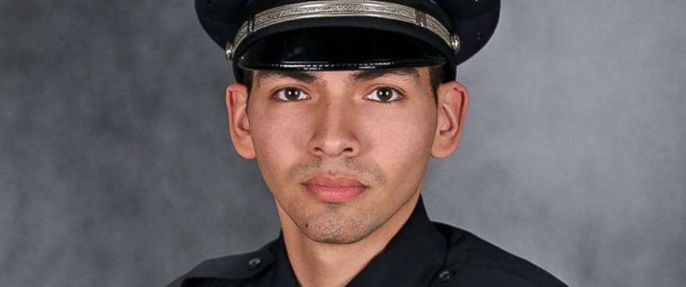 PHOTO: Milwaukee Police officer Alberto Figueroa, 26, suffered from broken bones and a cracked hip after he was struck by a car during a traffic stop Monday night.