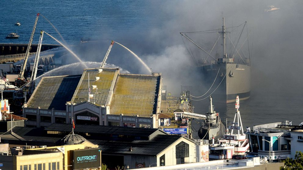 Historic WWII ship saved from San Francisco warehouse fire