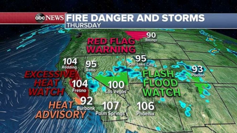 Triple-digit temperatures in store for California this weekend - ABC