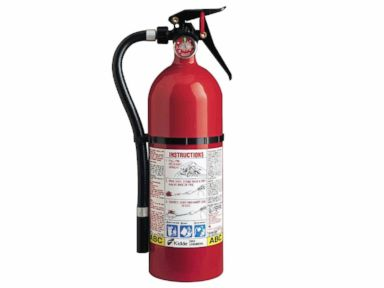 PHOTO: A Kidde plastic handle fire extinguisher, one of the 134 models of push-button and plastic-handle extinguishers in the U.S. and Canada made from 1973 through Aug. 15, 2017 under recall.