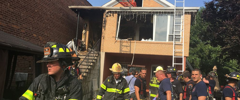 PHOTO: Three people died in a two-alarm fire in Queens, N.Y., July 10, 2019.