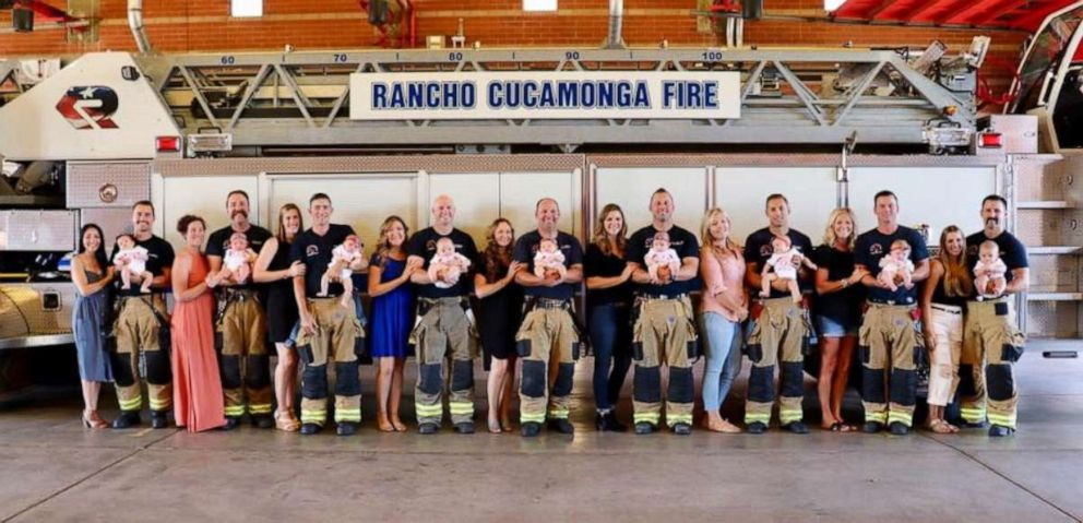PHOTO: Rancho Cucamonga Fire District posted photos of 9 babies born to firefighters between March and July.