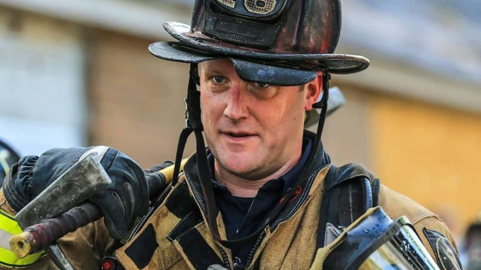 Firefighter who tried to save elderly woman from burning house is suspended without pay