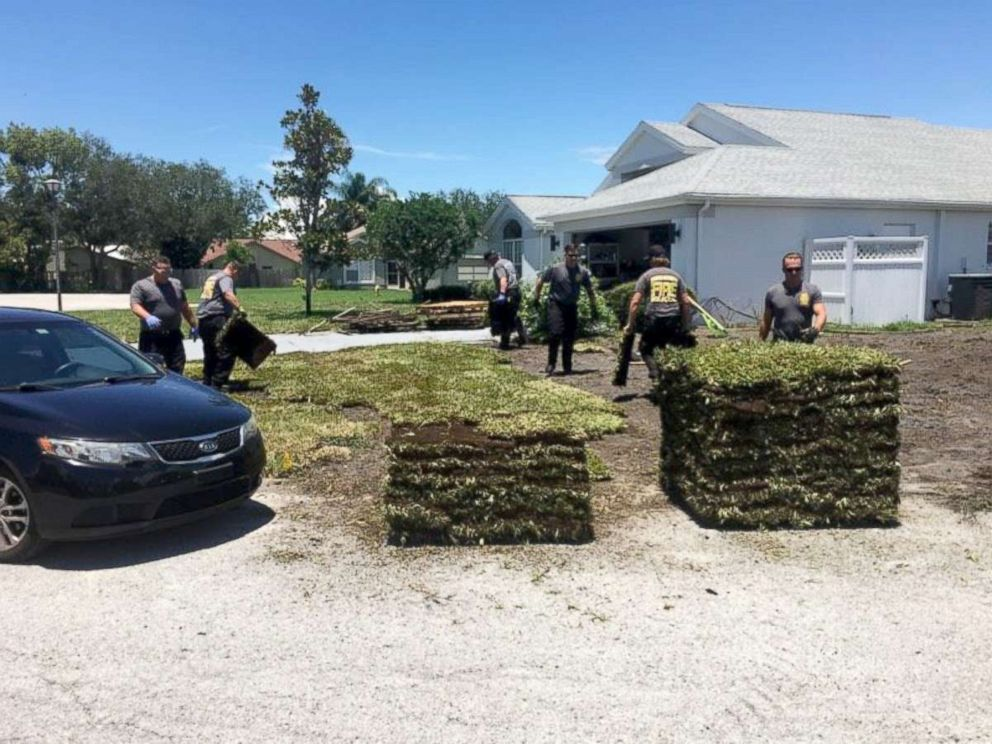 PHOTO: Six firefighters and EMTs in Pasco County, Florida, laid sod for a man after he suffered a heart attack.
