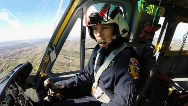Female fire helicopter pilot is on California's front line of attack