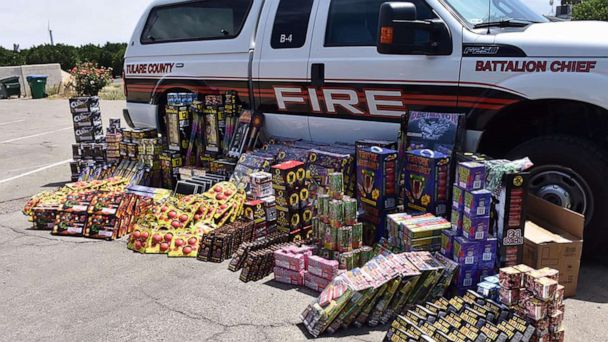 Over 750 pounds of illegal fireworks seized at California residence ahead of 4th of July