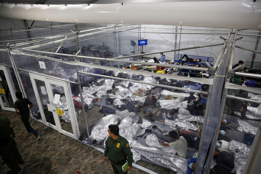 PHOTO: Minors are housed inside a pod at the Donna Department of Homeland Security holding facility, the main detention center for unaccompanied children in the Rio Grande Valley run by U.S. Customs and Border Protection,  Donna, Texas, March 30, 2021.