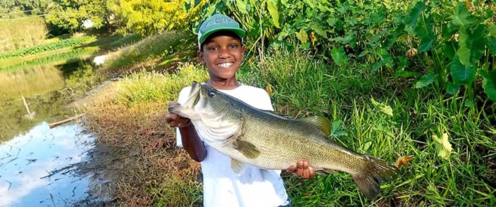 PHOTO: KeMari Cooper, 10, of Tallahassee, Florida, reeled in a 7-pound bass while fishing with his father, Velt. Video of the amazing moment was posted on Oct. 16.
