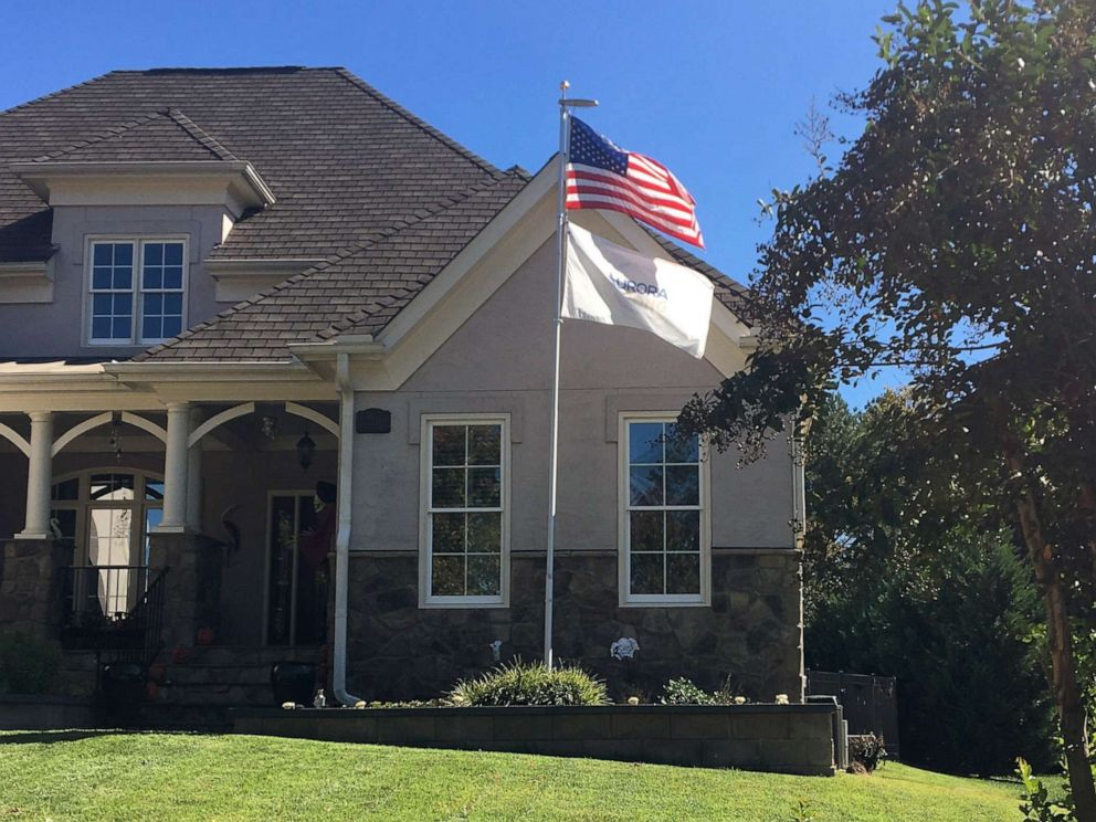PHOTO: Leslie Kendra is in a dispute with the homeowners association in her North Carolina neighborhood about the flagpole she and her husband erected in their front lawn.