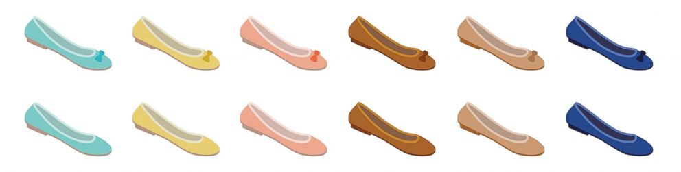 PHOTO: Florie Hutchinson teamed up with graphic designer Aphee Messer to design emoji options of a flat shoe.