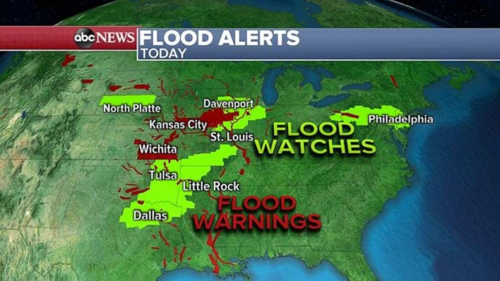 PHOTO: Flood warnings are in effect along the Arkansas River due to heavy rains over the past few weeks.