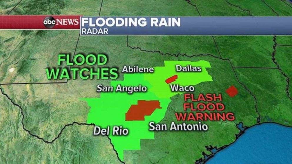 PHOTO: Flood watches and flash flood warnings are in place across much of Texas.