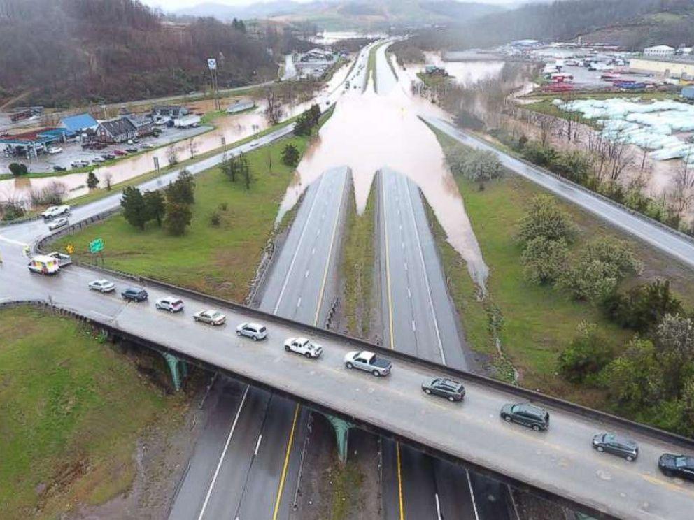 PHOTO: Flooding in Jane Lew, W.V., April 16, 2018.