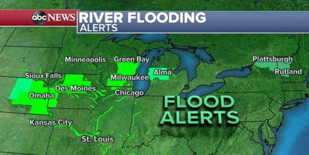PHOTO: Record flooding is a concern in the Plains and Upper Midwest.
