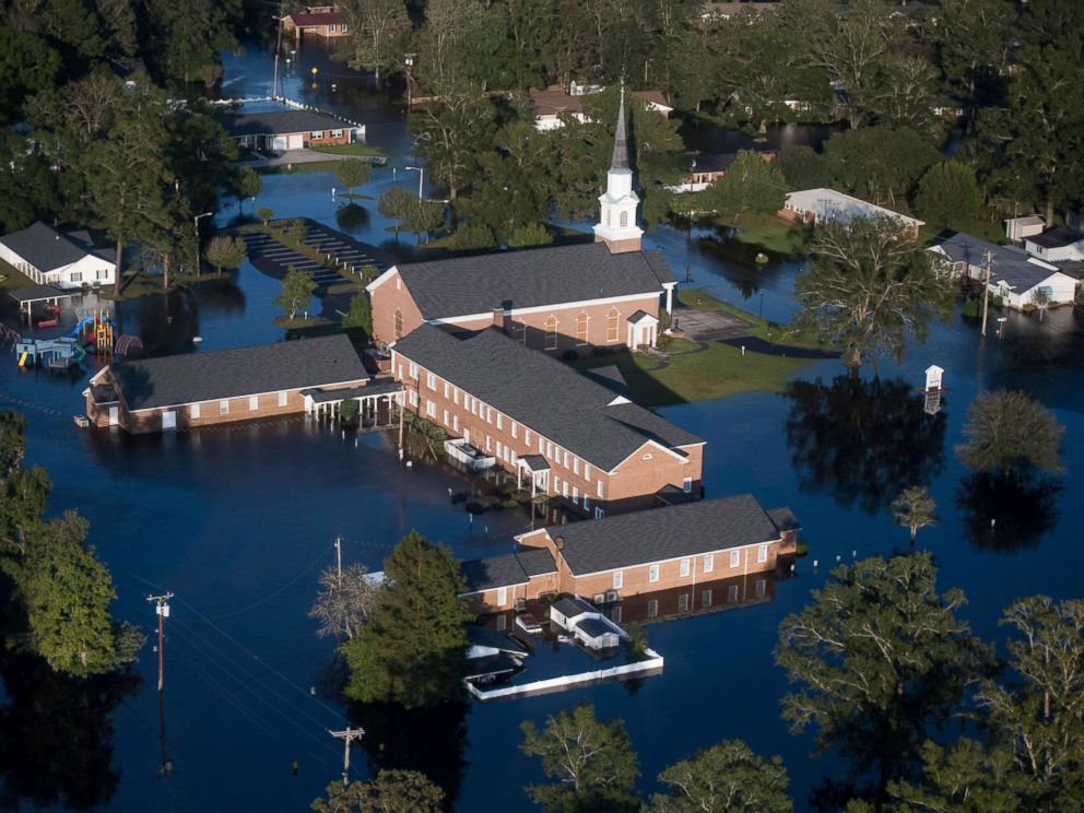 PHOTO: Floodwaters inundate a church in Conway, S.C., after Hurricane Florence struck the Carolinas, Sept. 17, 2018.