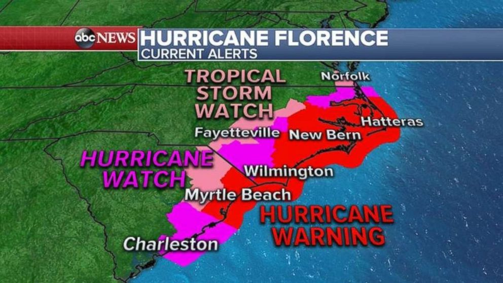 Hurricane Florence slows dramatically on approach, 40 inches of rain possible
