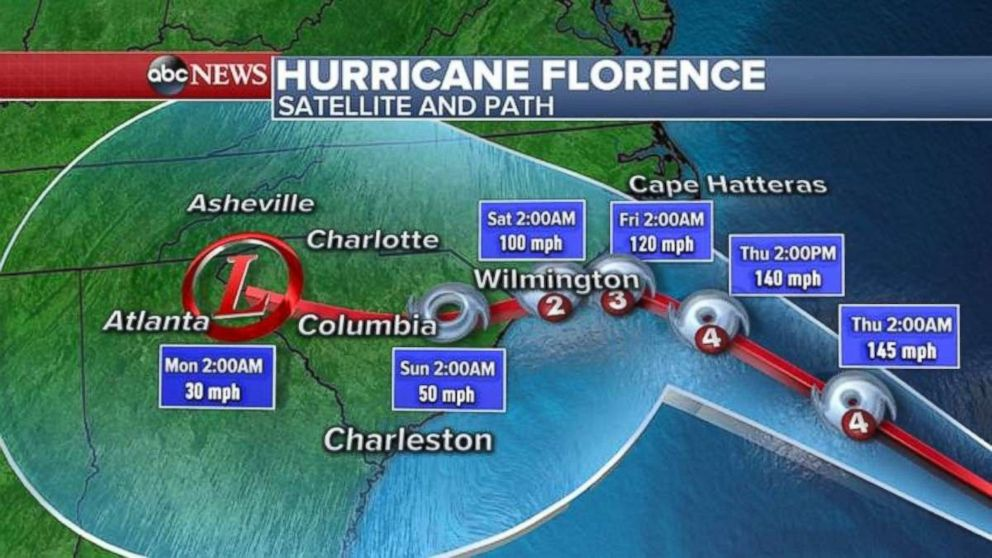 South Carolina Shuts Down and Evacuates as Hurricane Florence Expands