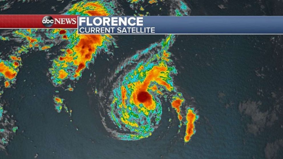PHOTO: Florence was getting very close to hurricane strength late Saturday.