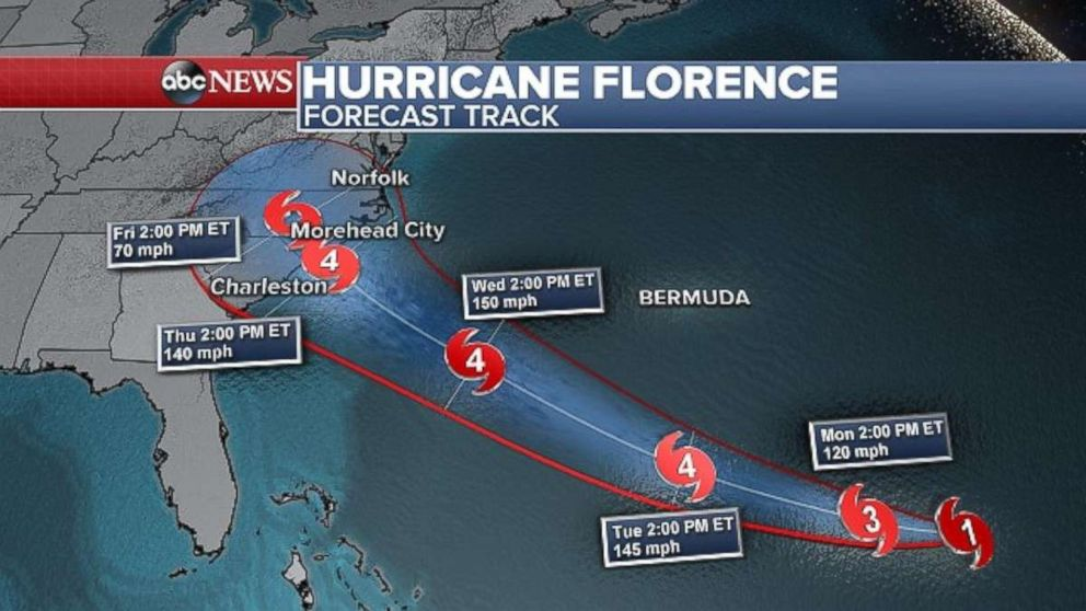 PHOTO: Florence is still expected to strengthen over the next few days.