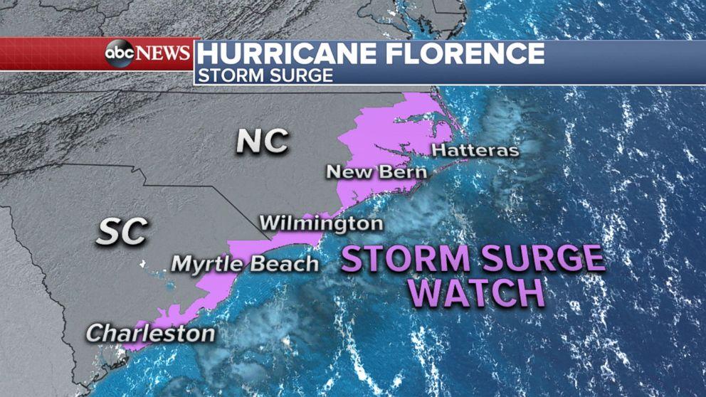 PHOTO: Hurricane Florence Storm Surge
