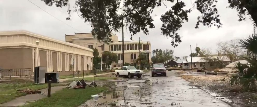 PHOTO: Hurricane Michaels impact is seen in Apalachicola, Fla., Oct. 10, 2018.