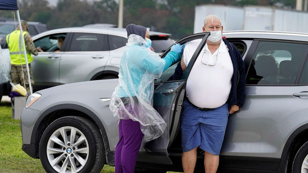 2 women dressed as 'grannies' to get COVID-19 vaccine, Florida officials say - ABC News